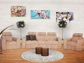 Flamingo set canapea și fotolii