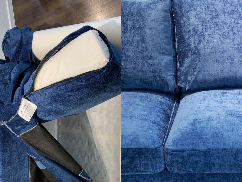 Canapea 3 locuri NOVILI Marine / Albastru