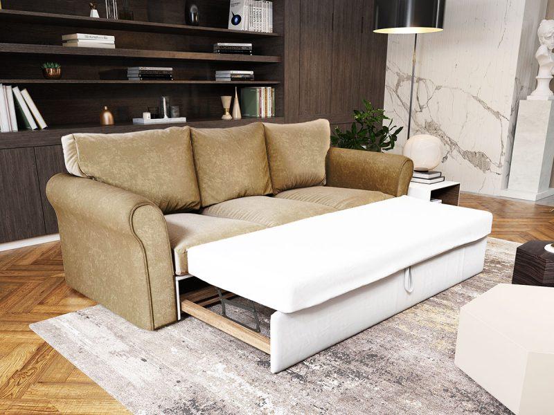 Canapea 3 locuri Extensibila Crem NOVILI