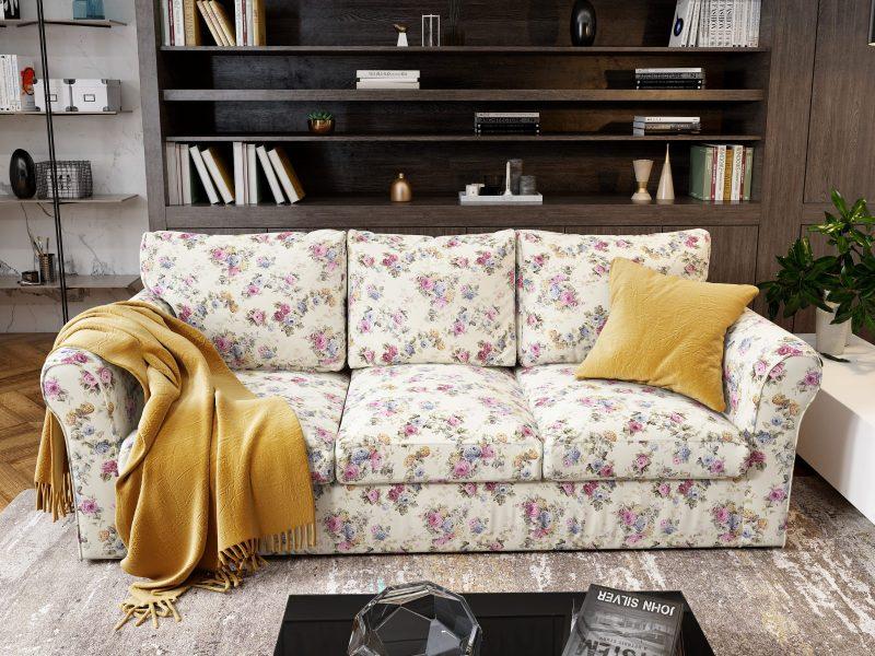 Canapea 3 locuri Extensibila Flori NOVILI