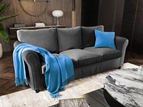 Canapea 3 locuri NOVILI Stone / Gri inchis