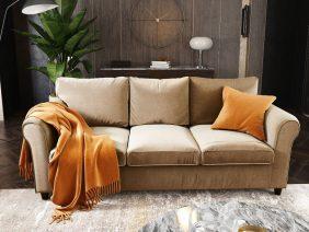 Canapea 3 locuri NOVILI Crem / Nisipiu