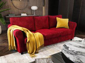Canapea 3 locuri NOVILI Amore / Rosu