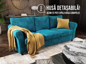 Canapea 3 locuri Turcoaz NOVILI