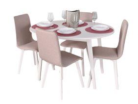 Set Masa Extensibila si 4 scaune Rosa Crem
