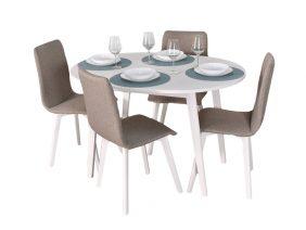 Set Masa Extensibila si 4 scaune Rosa Maro Inchis