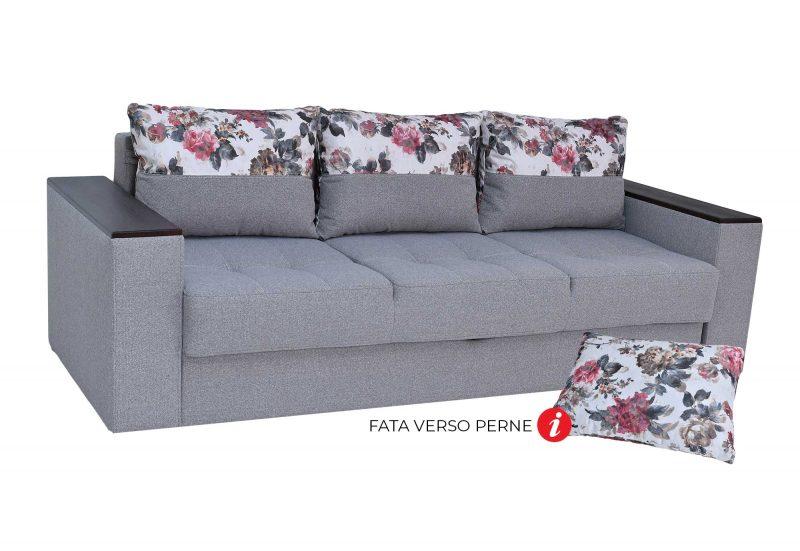 Canapea Dante L arte 84 b total / perne standard alice 142 (varianta cu brat lung)
