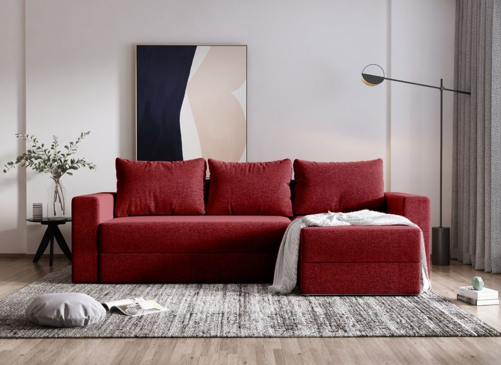 Coltar extensibil cu lada Alfa rosu savio57