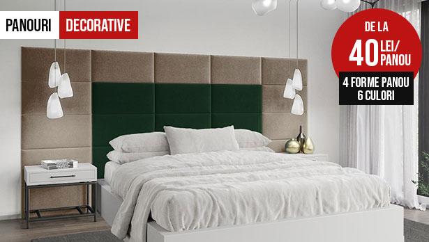 panouri tapitat decorative dormitor pat living